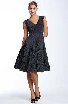 Adrianna Papell Matte Jersey & Taffeta Dress NAVY BLUE SIZE 6 $180 #97 NEW #AdriannaPapell #Casual