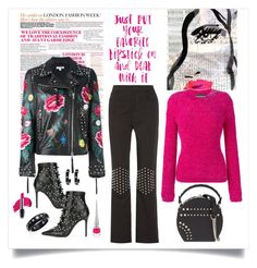 """""""P.A.R.O.S.H. Mistery Biker Jacket Look"""" by romaboots-1 ❤ liked on Polyvore featuring Oliver Gal Artist Co., P.A.R.O.S.H., Americanflat, J.W. Anderson, Alexis Bittar, Boutique Moschino, Cesare Paciotti, Bertoni and Christian Louboutin"""