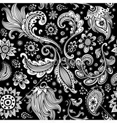 Beautiful floral seamless paisley pattern vector - by transia on VectorStock®