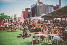 Lounging at the Open Source Stage by Jussi Hellsten, Flow Festival 2012, via Flickr
