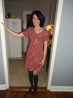 Red and gold dress by Refashionista.
