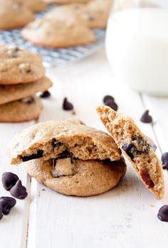 Soft-Bake Quinoa Chocolate Chip Cookies / a happy food dance