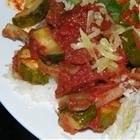 Roasted Garlic Zucchini and Tomatoes Recipe - Simple but delicious!