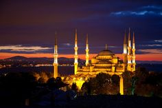 Blue Mosque at Sunrise in Istanbul