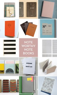 I love notebooks. I love how so many notebooks have great designs.
