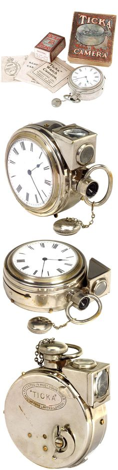 """The """"TICKA"""" Watch Camera c. early 1900's                                                                                                                                                                                 More"""