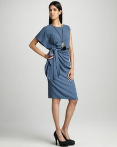 Talulah Side-Ruffle Dress by Studio 148 by Lafayette 148 New York at Neiman Marcus Last Call.