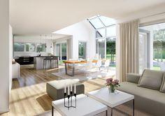 Das lichtdurchflutete Wohnzimmer mit der offenen Galerie ist das Highlight dieses Hauses. Hier fühlt sich jeder Bewohner auf Anhieb sehr wohl! Mehr zum Kern-Haus Maxime finden Sie unter: http://www.kern-haus.de/haeuser/familienhaeuser/maxime/