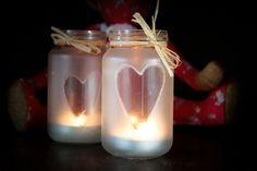 Set Of  3 Handmade Frosted Glass Tea Light by Foundintheloft, £12.00