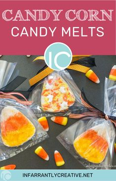 Candy corn candy melts for treats. Candy Corn, All Candy, Halloween Cookies, Halloween Treats, Diy Halloween, Easy Diy Gifts, Candy Melts, Pumpkin Decorating, Easy Desserts