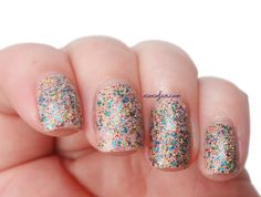 Vivid Lacquer Welcome To Rapture over OPI Don't Pretzel My Buttons