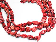 Red Magnesite Faux Coral jewelry supplies imitation by FireSpirit