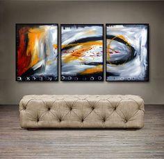 "'At last' - 48"" X 20"" Original Abstract Art Painting"