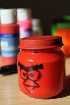 Angry Birds Baby Food Jar craft idea!! -Mothers Raising Brothers