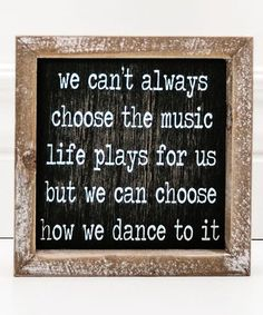 Another great find on #zulily! Black & White 'How We Dance' Framed Wall Art #zulilyfinds