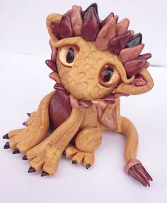 Polymer Clay Lion Dragon Twisted & Troublesome Friends November 2014
