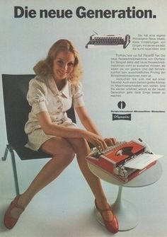 Olympia traveller 70s ad, crazy, where's the lap top??? lol