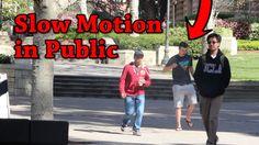 Slow Motion in Public Prank #pranks #funny #prank #comedy #jokes #lol #banter
