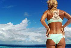 @Lisa Phillips-Barton Phillips-Barton Phillips-Barton Phillips-Barton Phillips-Barton*SPACE Swimwear Crochet racerback/boyshort bikini.