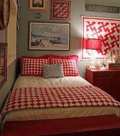 love the framed quilt....