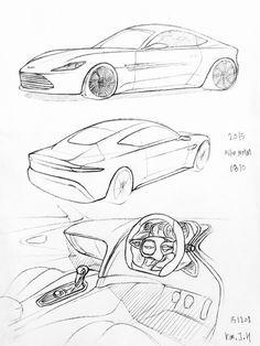 auto tekenen in stappen makkelijk zoeken car sketch Citroen DS Car car drawing 151207 2015 astonmatin db10 prisma on paper kim j h car design sketch
