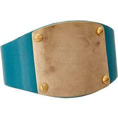 The Sak Material Girl Leather Metal Plate Bracelet