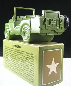 """Avon 'Army Jeep"""" choice of Avon Spicy or  Wild Country After Shave ~ available 1974-1975"""
