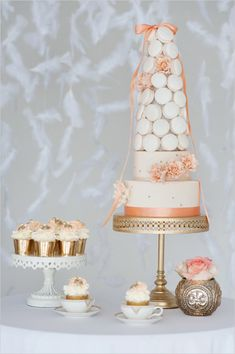 macaroon wedding cake by City View Bakehouse