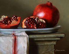 Pomagranite -Jeffrey T. Larson - oil painting
