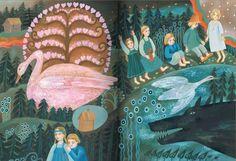 "Vera Pavlova, Illustration for a book: Alexei Remizov, ""Kostroma and other tales""."