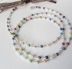 Brillenketten - Brillenkette in  bunt-silber - ein Designerstück von soschoen bei DaWanda