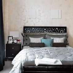 black-modern-bedrooms - Click image to find more Home Decor Pinterest pins