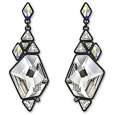 Collection: Stunning pair of Rocket Pierced Earrings inspired by a mosaic Swarovski John Hardy, Swarovski Jewelry, Swarovski Crystals, Cartier, Fashion Earrings, Fashion Jewelry, Pandora, Diamond Are A Girls Best Friend, Couture