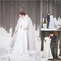 Winter Wedding at The Resort in Cypress Hills - Cristal King Photography - forest wedding - wedding cape - winter cape