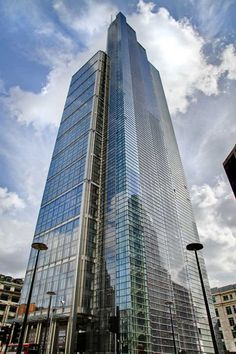 The Heron Tower or 110 Bishopsgate is a commercial skyscraper in London. It stands 755 ft tall making it the tallest building in the financial district and the third tallest in Greater London, after the Shard in Southwark.