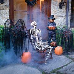 Outdoor porch Halloween decor