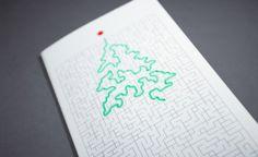 Heart&Soul Christmas Card by Adrian Mititelu, via Behance Christmas Maze, Christmas Ecards, Christmas Cards 2018, Xmas Cards, Christmas Greetings, Christmas Themes, Christmas Diy, Greeting Cards, Corporate Christmas Cards