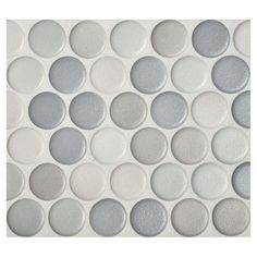 "Complete Tile Collection Penny Round Mosaic - Graphite Blend - Anti-slip Matte, 1"" Round Glazed Porcelain Penny Mosaic Tile, Anti-Microbial, Anti-Odor, Anti-Staining Technology, MI#: 063-Z1-250-022, Color: Graphite Blend"
