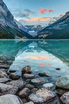 Landscape photography | Water reflections | Mountains \ Dawn At Lake Louise Photograph by Pierre Leclerc Photography