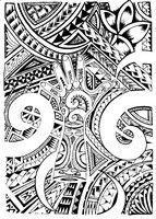 Maori Tattoo Design Coloring Page