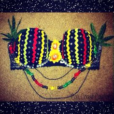 Rasta Weed Babe Bra by Cali Coast Couture. To order contact calicoastcouture@gmail.com