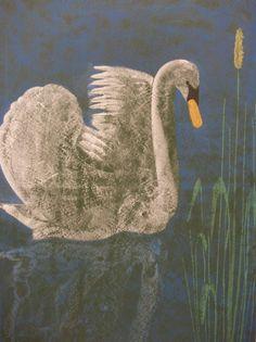 Waldorf ~ 4th grade ~ Human & Animal ~ Swan ~ chalkboard drawing