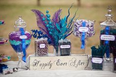 Blue Purple Candy and Cookies Wedding Favors Photos & Pictures - WeddingWire.com