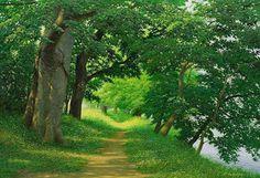 Cuadros Modernos Pinturas : Realismo Ambiental, Ecológico Y Natural En Los Paisajes Realistas de An Jung Hwan