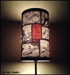 Comic Strip Lamp Shade Lampshade - Comic book decor, geekery, dorm room decor, gift for a geek. €45.00, via Etsy.