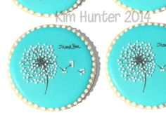 Thank you cookies dandelion hand decorated Say It With Cookies by kim