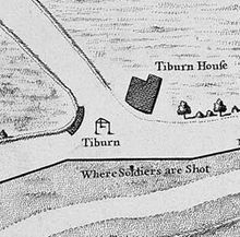 Map of Tyburn gallows and immediate surroundings, from John Rocque's map of… London History, British History, Cassandra Clare, London Drawing, Map Symbols, Love Conquers All, London Map, Gallows, Livros