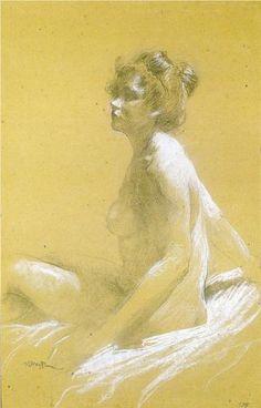 Model.  Leon Bakst. Private Collection.