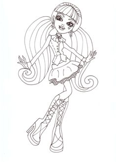 Monster High Draculaura Coached His Dance Coloring Pages