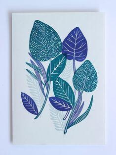 Dotty Leaf Two Colour Riso Print- Hannah Rampley